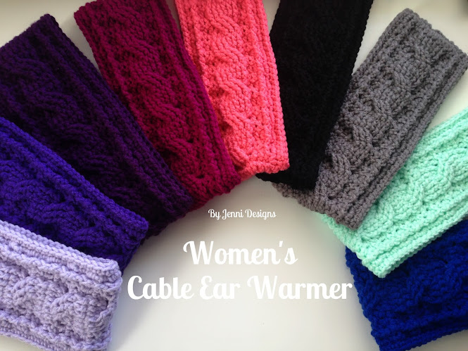 Beautiful Crochet Cable Projects: Cabled Ear Warmers
