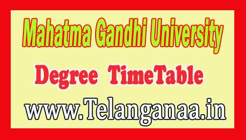 Mahatma Gandhi University (MGU)Degree Supply TimeTable 2016
