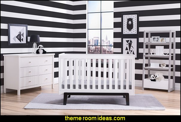 stripe theme baby nursery