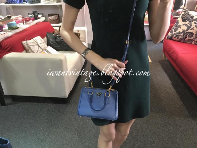 7ff3b0336828 ... real prada saffiano lux mini double zip tote blue f9e77 3dc17