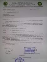 Contoh Surat Permintaan / Permohonan bantuan Dana Proposal untuk Haflah dan Lomba Ponpes / Madrasah