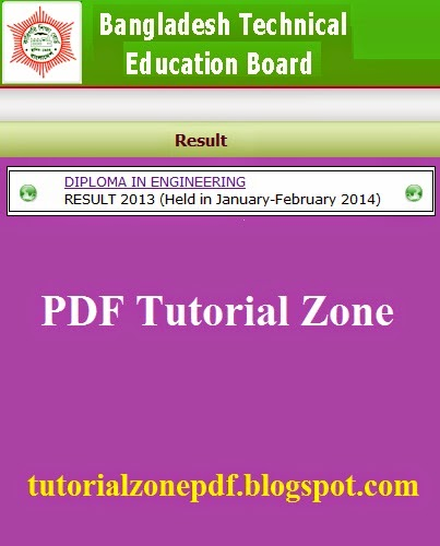 Bangladesh Technical Education Board Result Cover