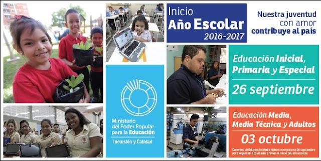 Comenzamos actividades escolares  26 sept: Inicial, Primaria y Especial.03 oct: Media y Técnica