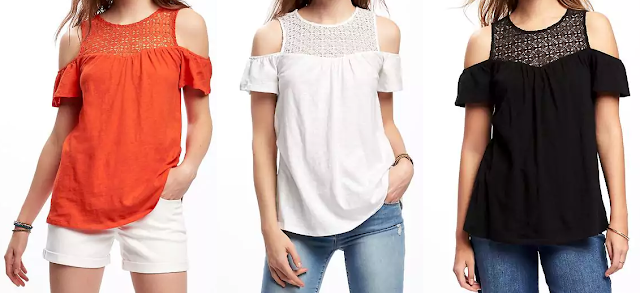 Old Navy Cut-Out Shoulder Swing Top $14 (reg $23)