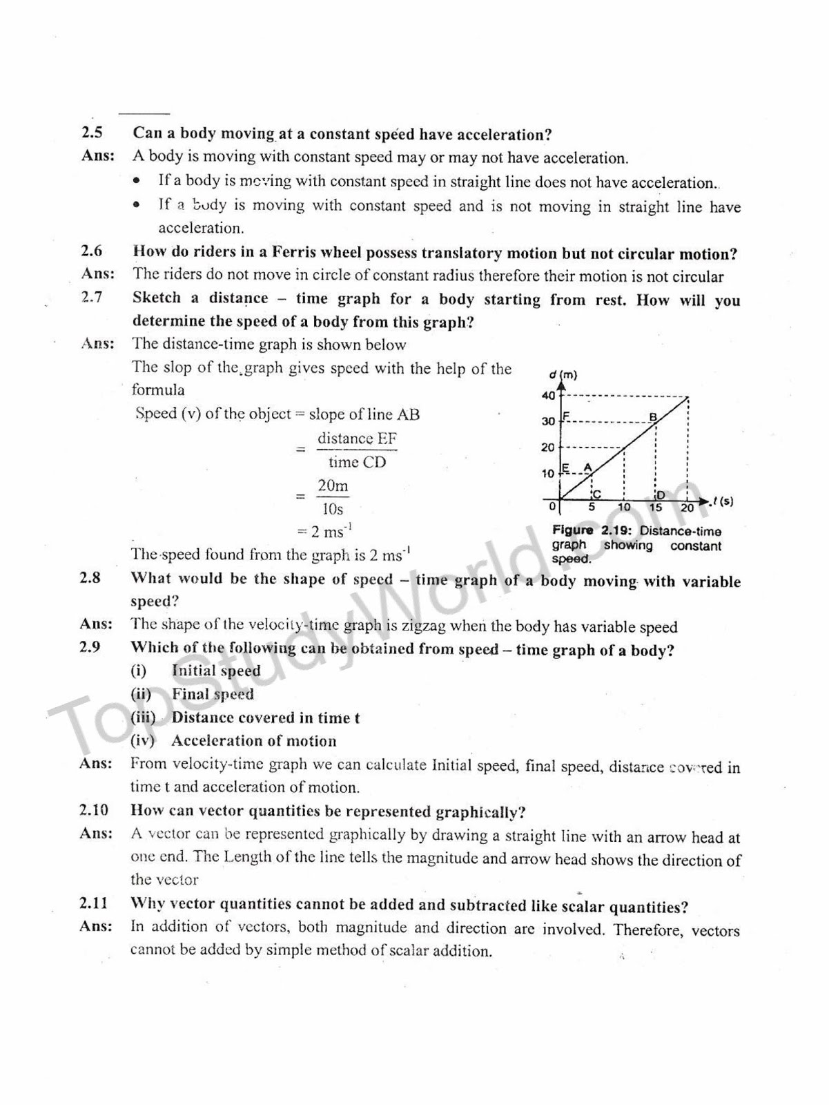 Kips 9th Class Kinematics Physics Complete Notes With