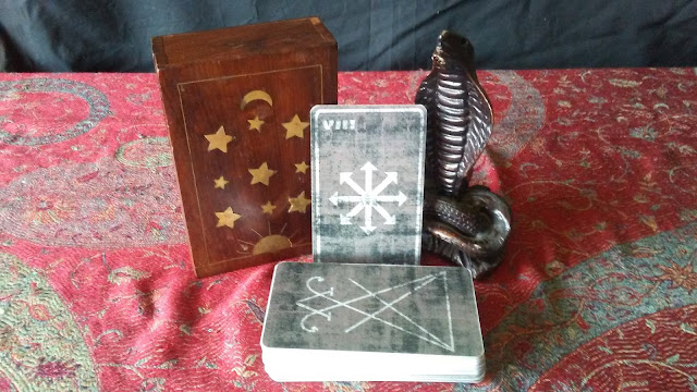 occult tarot cards snake magic