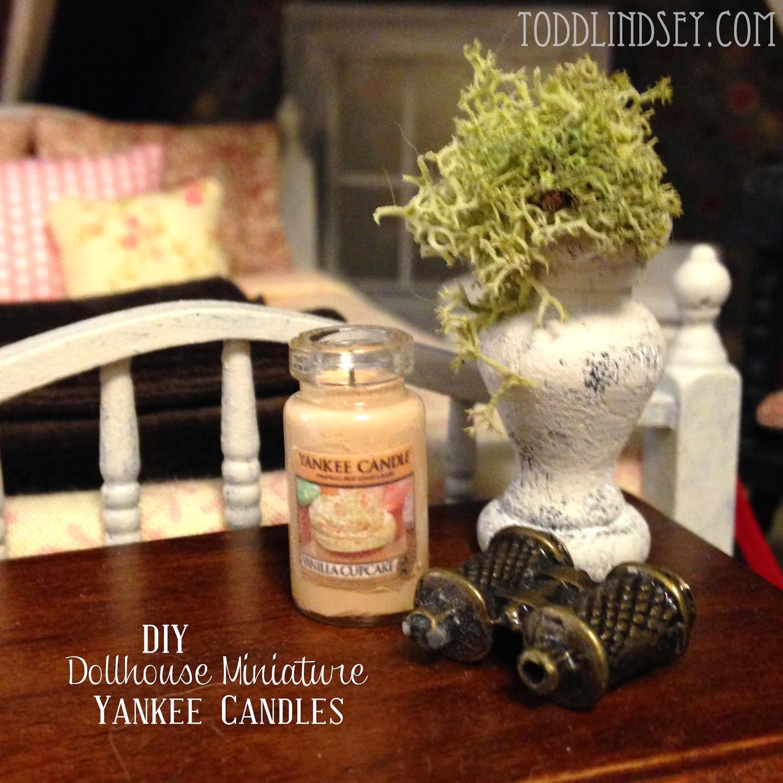 Dollhouse Miniatures Tutorials: Domer Home: DIY DOLLHOUSE MINIATURE YANKEE CANDLES
