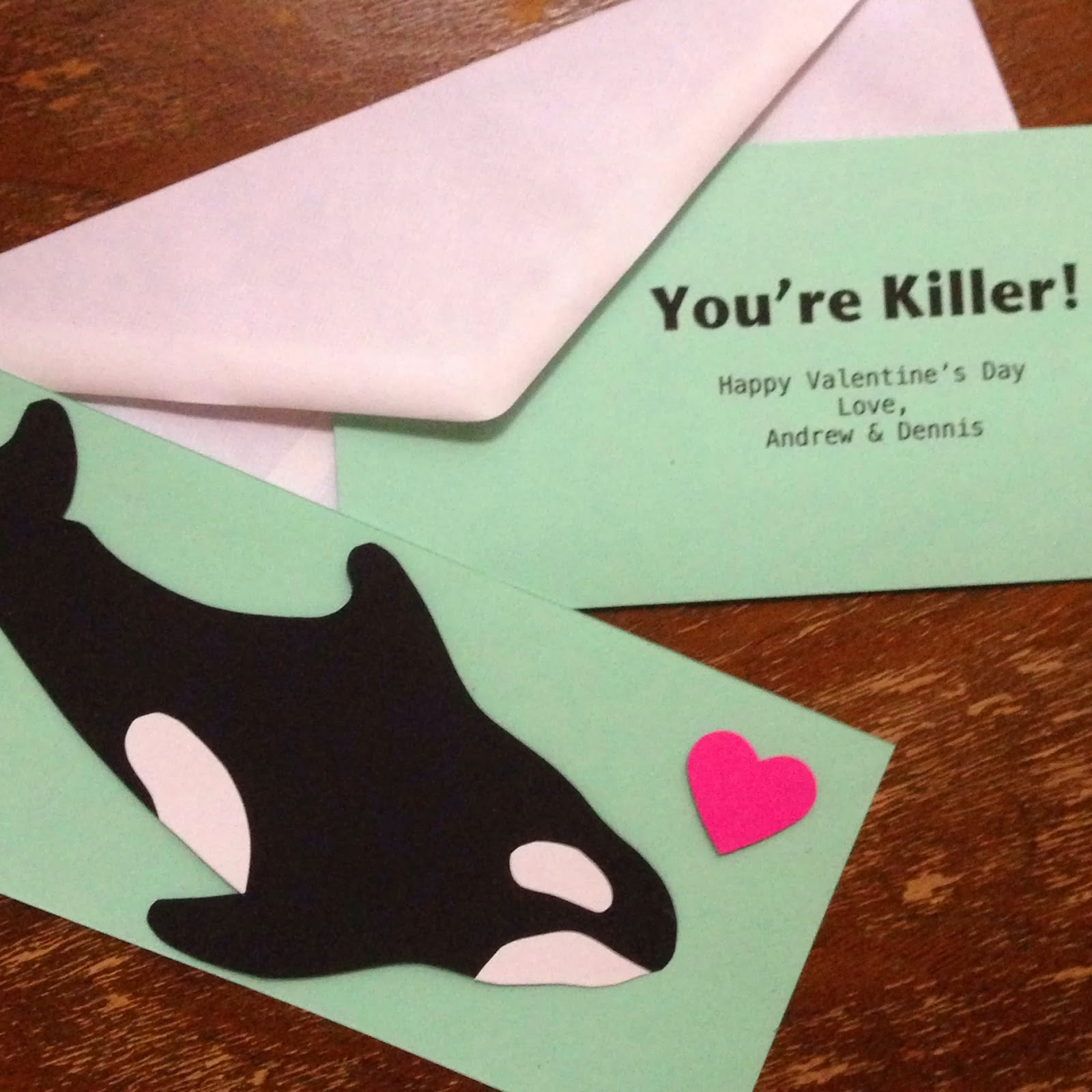 killer whale valentine cards