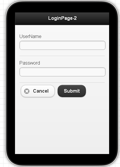 jquery mobile login template - developers code blog create sample jquery mobile page for