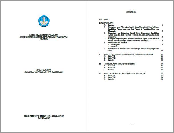 Silabus RPP PAI SMP MTs Kurikulum 2013 Kelas VII, VIII, IX