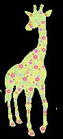 Girafa floral amarela - Criação Blog PNG-Free