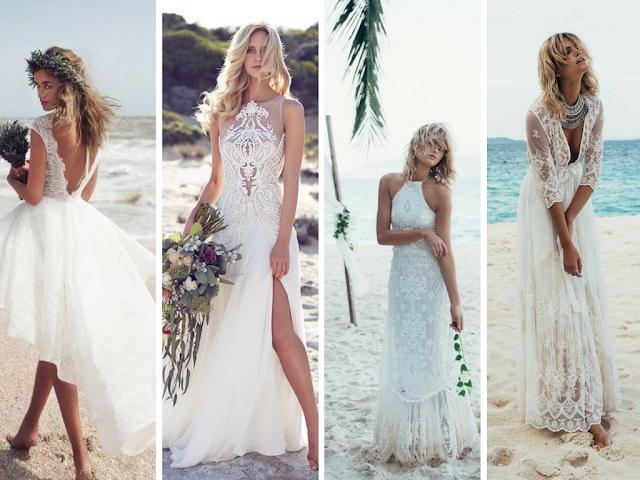 Vestidos de noiva para a praia