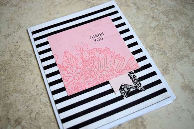 Thank You Card by Jess Crafts using Simon Says Stamp June 2017 Card Kit Blissful