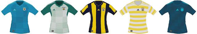 PES 2018 Fenerbahçe SK Full Kits Season 2018/19