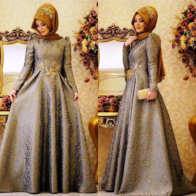Inspirasi Gaun Muslimah Cantik dan Trendy 2001611
