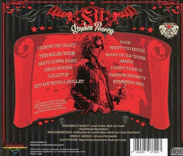 STEPHEN PEARCY - Smash (2017) back
