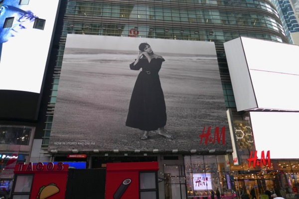 H&M Spring 2018 billboard Times Square