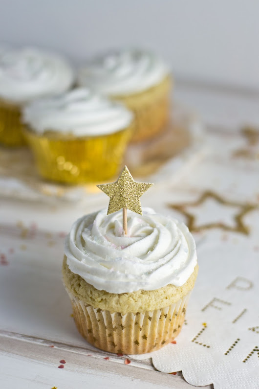 Champagne Cupcakes {dairy + gluten free}