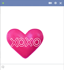 Heart XOXO Sticker
