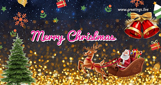 Santa claus coming merry Christmas gift free images