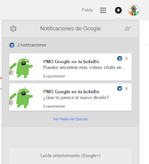 Las notificaciones de Spaces en Chrome