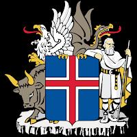 Logo Gambar Lambang Simbol Negara Islandia PNG JPG ukuran 200 px