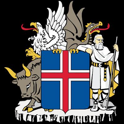 Coat of arms - Flags - Emblem - Logo Gambar Lambang, Simbol, Bendera Negara Islandia