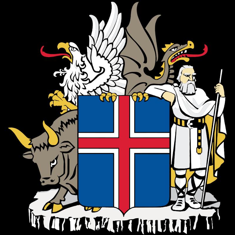 Logo Gambar Lambang Simbol Negara Islandia PNG JPG ukuran 800 px