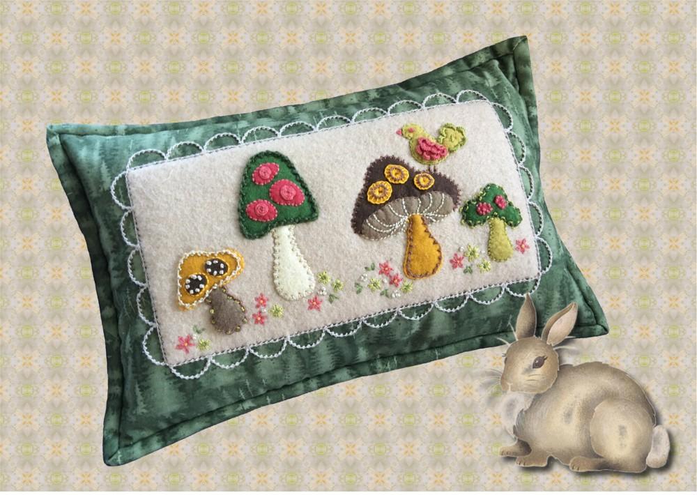 Lumbar beige birds on wire decorative pillow cover cotton applique