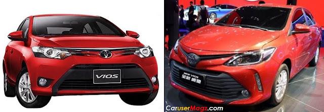 Toyota Vios Facelift 2016 vs Vios Lama