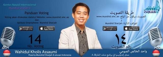 Wahidul Khalis Al-Soumy Mewakili Indonesia kontes Nasyid Internasional