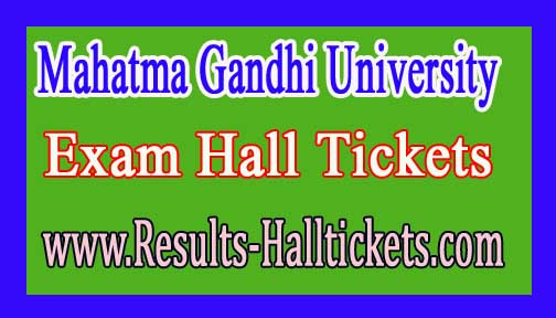 Mahatma Gandhi University LLB 3YDC / 5YDC 2016 Exam Hall Tickets