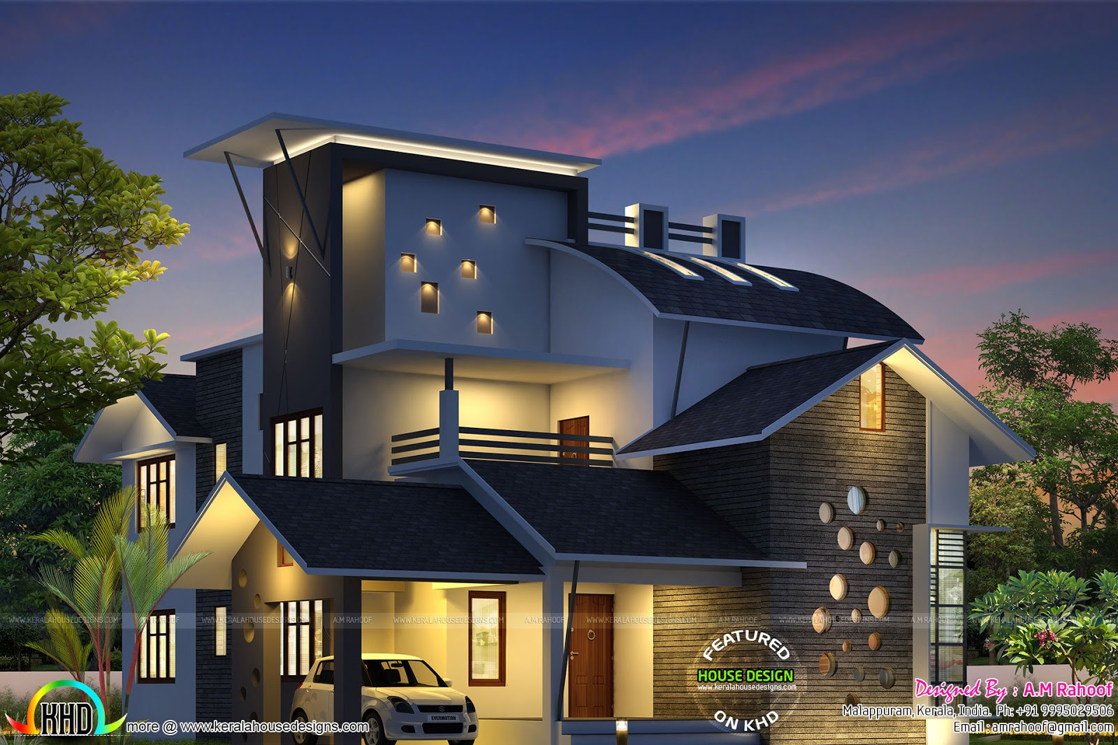 Delighful Architecture Design Kerala Model Single Floor Sq Ft