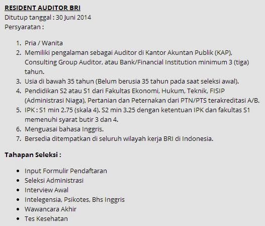 Rekrutmen Bri Rekrutmen Bank Bri Lulusan Smasmkd3 Semua Jurusan Lowongan Kerja Bumn Pt Pln Semarang Oktober 2014 Rekrutmen Bank Bumn