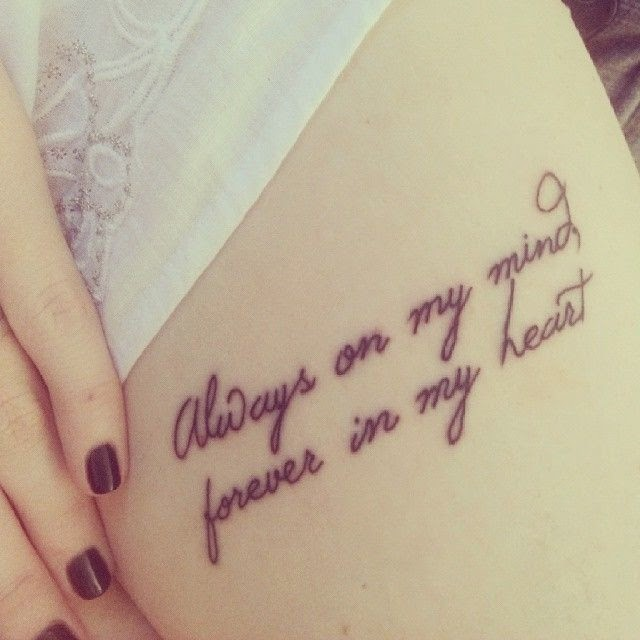 Meaningful Quotes Tattoos For Girls