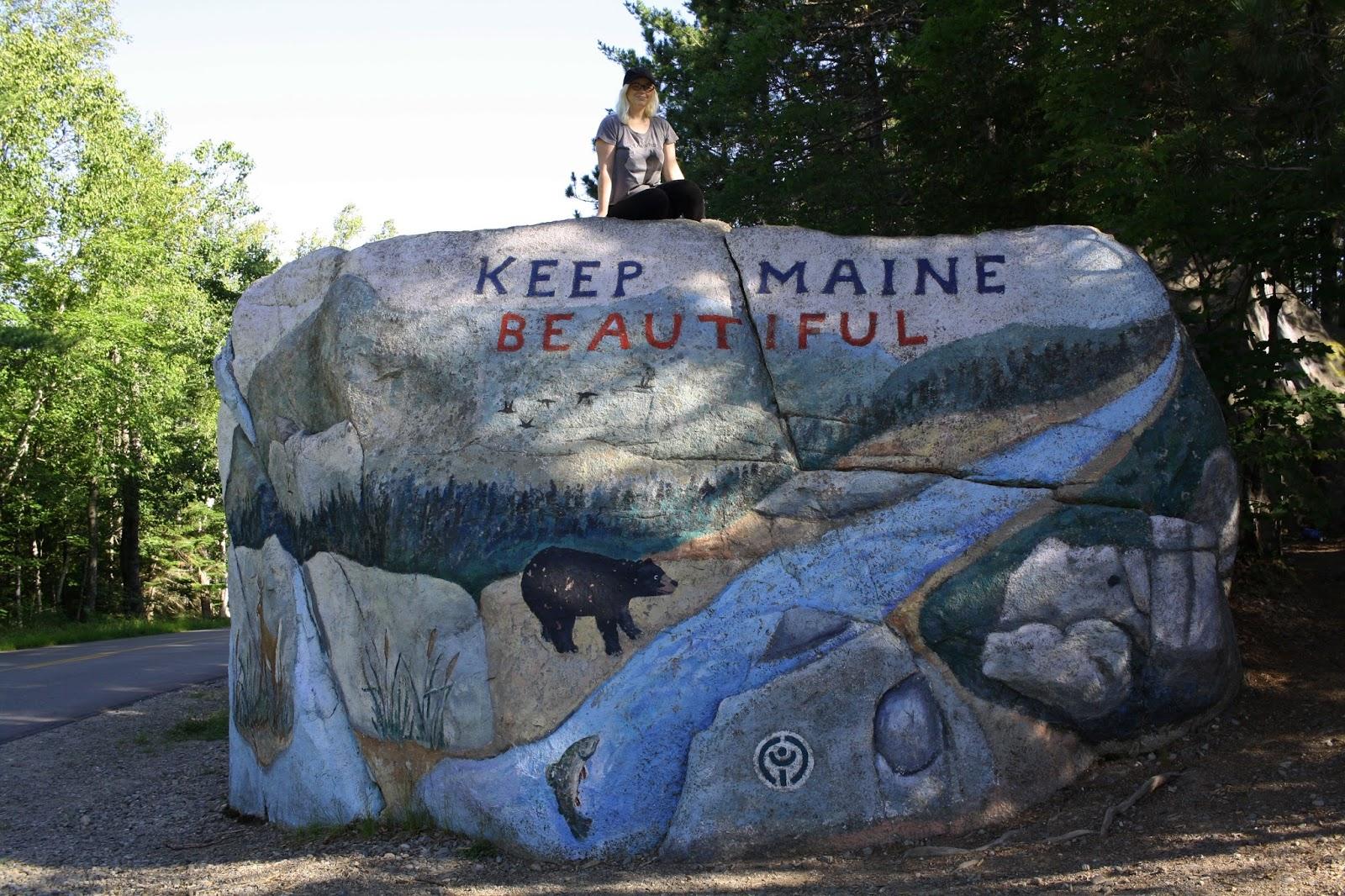 Keep Maine Beautiful rock, Baxter State Park