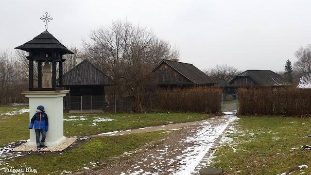 Małopolska, Niepołomice, chaty, osada