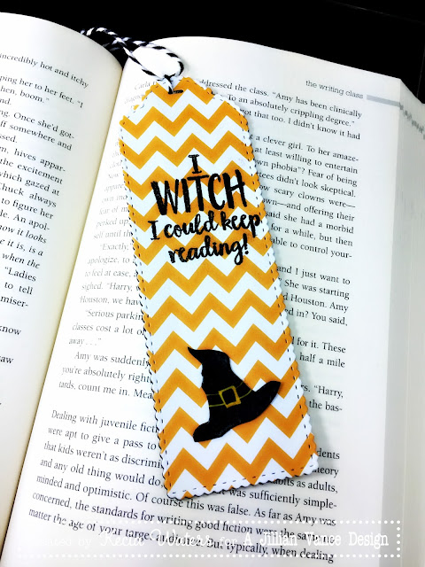 AJVD, Minnie Pearl Bookmark die, Kecia Waters, Halloween, Witch Book