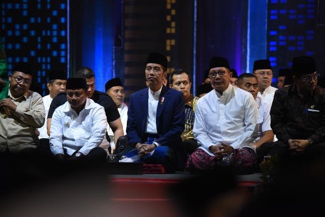 Presiden Jokowi: Keutuhan Indonesia Tak Lepas dari Peran Ulama dan Santri