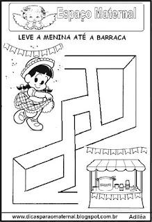 Labirinto festa junina para maternal