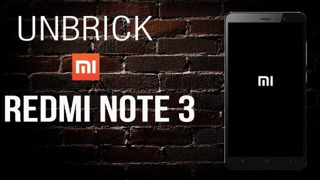 How to Unbrick Xiaomi Redmi Note 3 (Snapdragon 650)