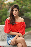 Rhea Chakraborty in Red Crop Top and Denim Shorts Spicy Pics ~  Exclusive 359.JPG