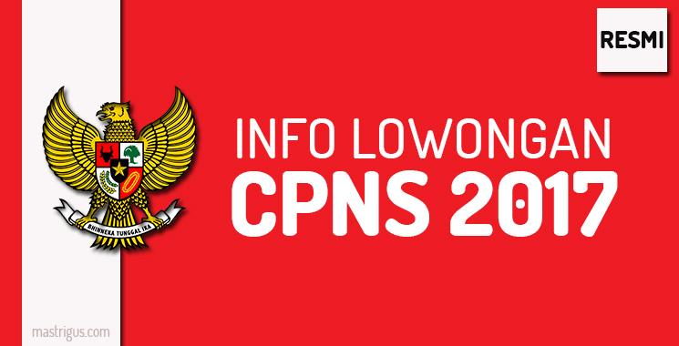 Info Lowongan CPNS Tahun 2017