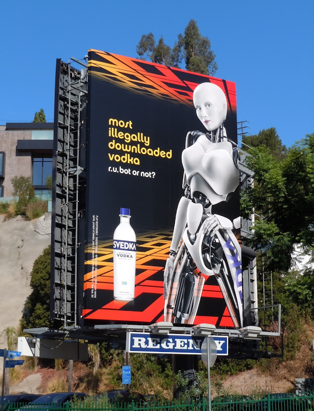 Svedka illegal vodka billboard