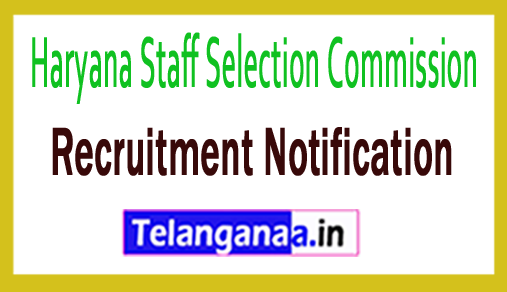 Haryana Staff Selection Commission HSSC Recruitment Notification