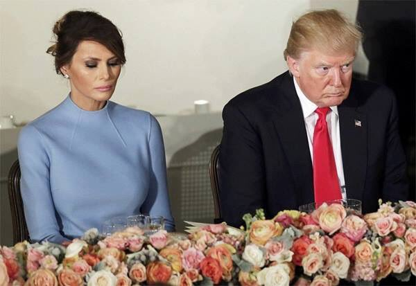melania trump sad inauguration day