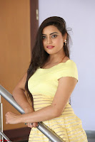 Shipra gaur in V Neck short Yellow Dress ~  011.JPG