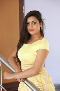 Shipra gaur in V Neck short Yellow Dress ~  011.JPG
