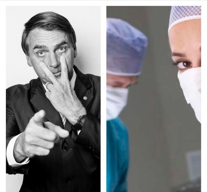 """Atitude de Bolsonaro referente ao """"Mais médicos"""" surpreende"""