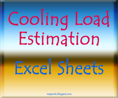 Excel Sheets, HVAC, Load Estimation, Heating,